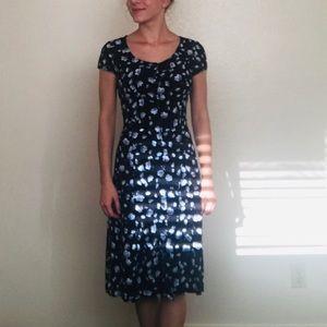 Knee length, Short Sleeve Dress
